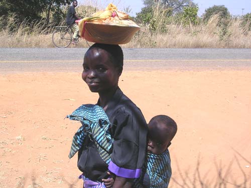Rural Woman with Baby, Malawi, 2000s