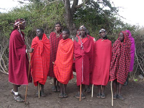 Masai Men, Kenya, around 2000