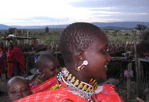 Masai Woman and Children, Kenya, 2000s