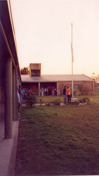 High School courtyard, Argentina, early 2000s