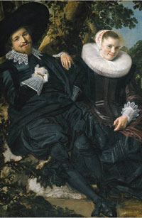 Frans-Hals, Recently Married Couple, Holland, 1600s