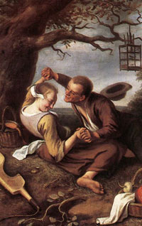 Courting Couple, Holland, 1600s, Jan Steen