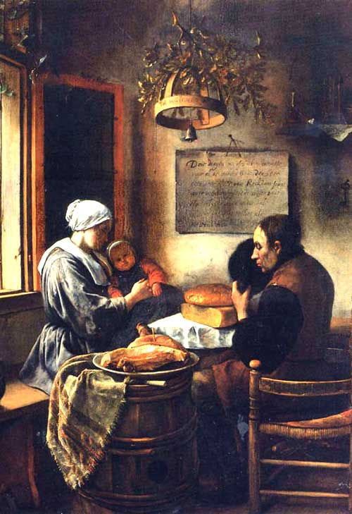Prayer Before a Meal, Holland, 1600s, Jan Steen