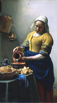 Kitchen Servant, Holland, 1600s, Jan Vermeer