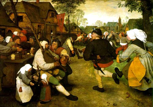 The Peasants' Dance, Netherlands, late 1500s, Pieter Bruegel