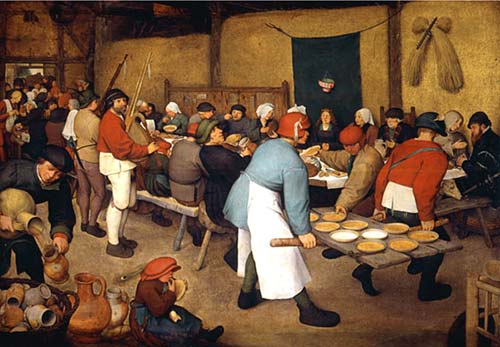 The Wedding Feast, the Netherlands, late 1500s, Pieter Bruegel