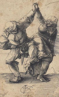 Dancing Peasants, Switzerland, 1500s, Urs Graf
