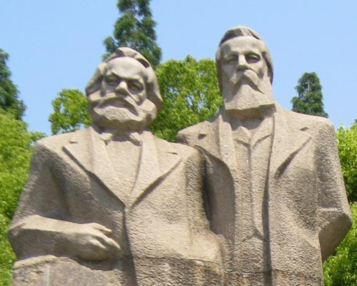 Karl Marx and Friedrich Engels, Shanghai, China