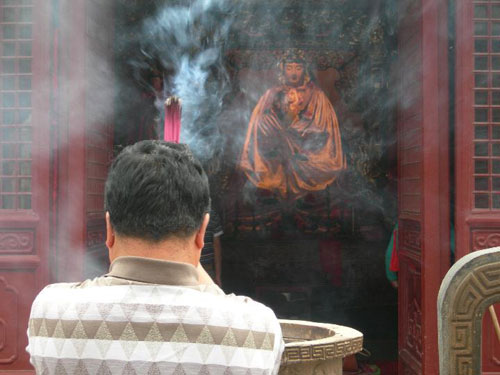 Praying in Tianjin, China