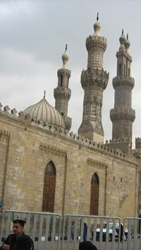 Al-Azhar Mosque in the Khan el-Khalili section of Cairo, 2007