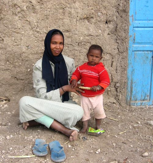 A young woman and her child in a village in Upper Egypt, 2007
