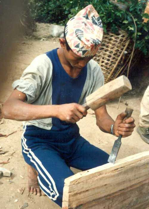 Carpenter in Kathmandu Valley, Nepal 1980s