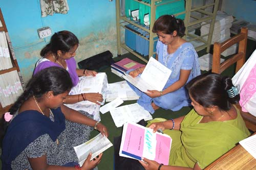 Interviewers Checking Questionnaires, Nepal, Around 2000