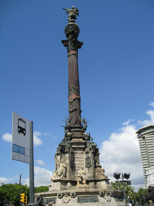 Christopher Columbus Monument, Barcelona, Catelonia, Spain