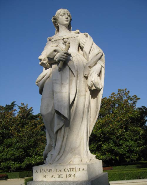 Statue of Queen Isabella of Spain