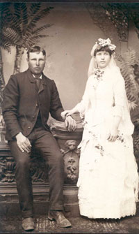 American Wedding Photo, rural United States, 1880s.