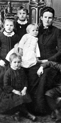 Widow and Children, United States, 1880s.