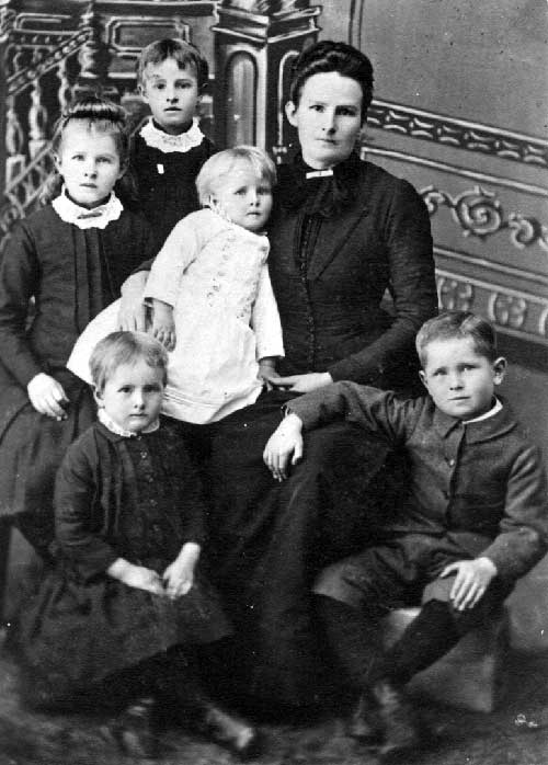 Widow and Children, United States, 1880s