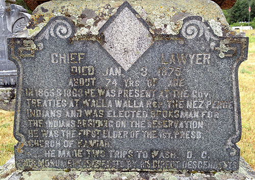 Chief Lawyer gravemarker, Kamiah, Idaho