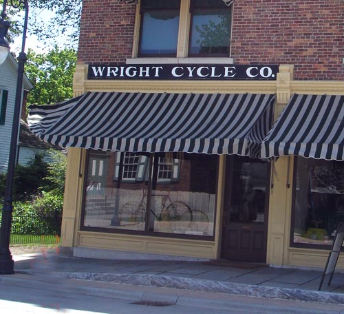 Wright Brothers Cycle Shop (Airplane Inventors)